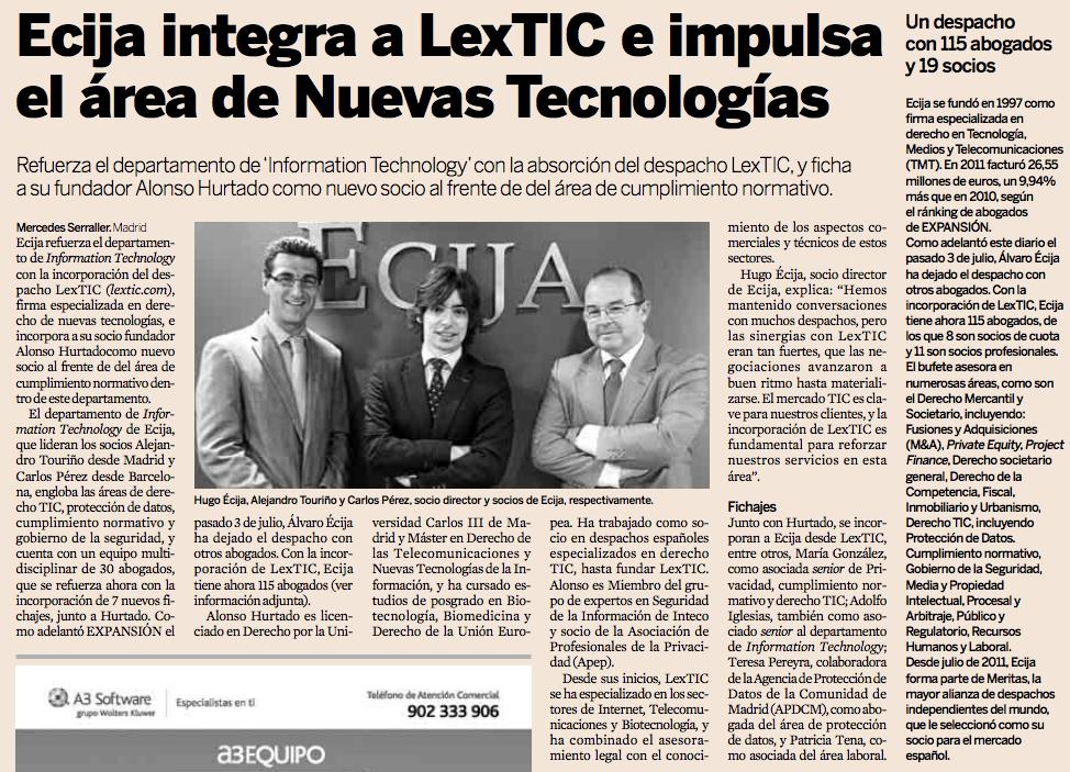 Extracto Noticia Diario Expansión
